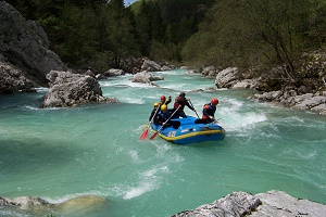 Rafting Touren auf der Soca in Slowenien